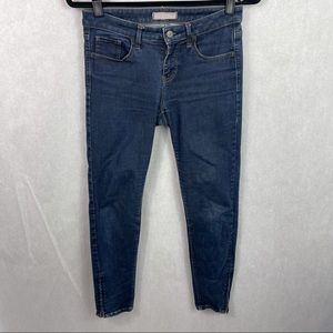 Uniqlo Skinny Zipper Ankle Cropped Jeans 26 Blue